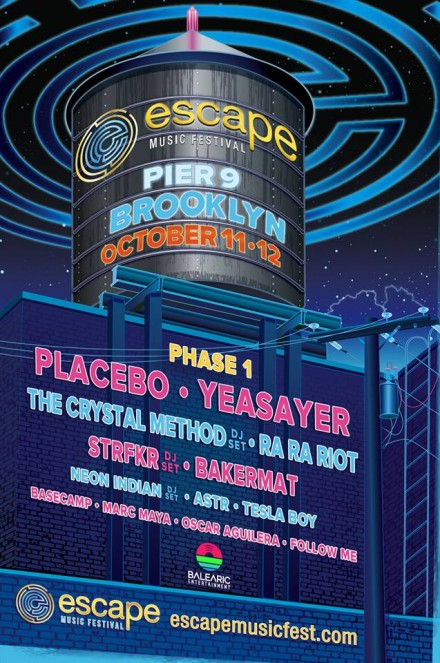 JUST ANNOUNCED: Escape Music Fest / Brooklyn / Oct 11-12