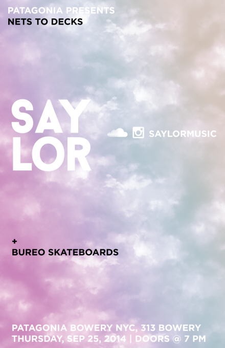 Patagonia Presents: SAYLOR Sep 25th in NYC