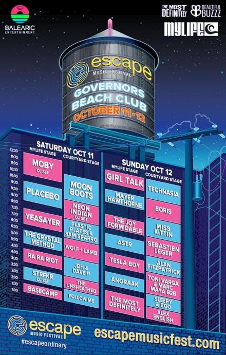 Escape Music Festival Set Times Are Out!