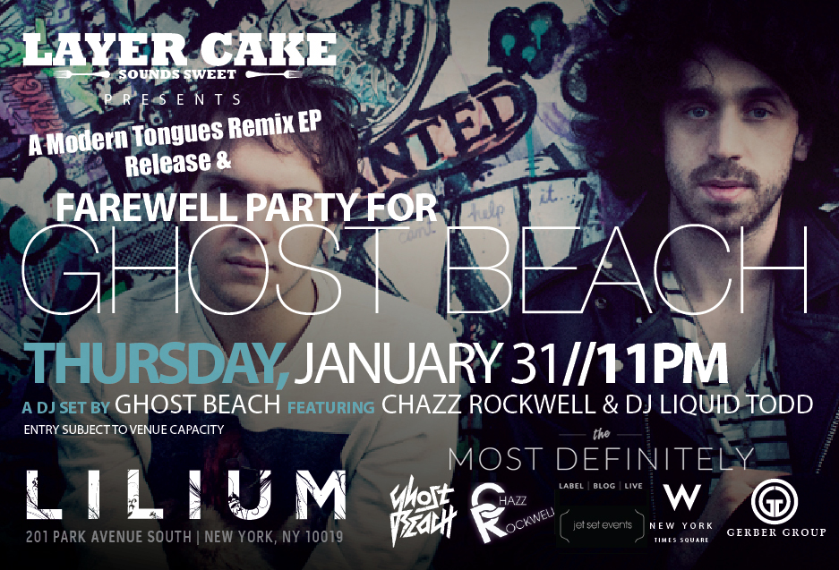 Ghost Beach Remix EP Release Party